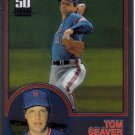 TOM SEAVER 2001 TOPPS TRADED CHROME REPRINT #8 (T107) NEW YORK METS