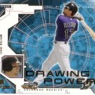 TODD HELTON 2001 MVP DRAWING POWER #DP10 COLORADO ROCKIES