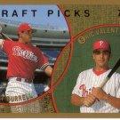 PAT BURRELL / ERIC VALENT 1999 TOPPS #444 ROOKIE PHILADELPHIA PHILLIES
