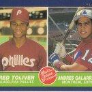 ANDRES GALARRAGA / FRED TOLIVER 1986 FLEER #647 ROOKIE EXPOS / PHILLIES AllstarZsports.com