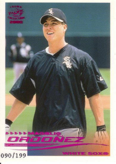 MAGGLIO ORDONEZ 2000 CROWN COLLECTION HOLO-PURPLE #64 SP# 090/199 WHITE SOX AllstarZsports.com