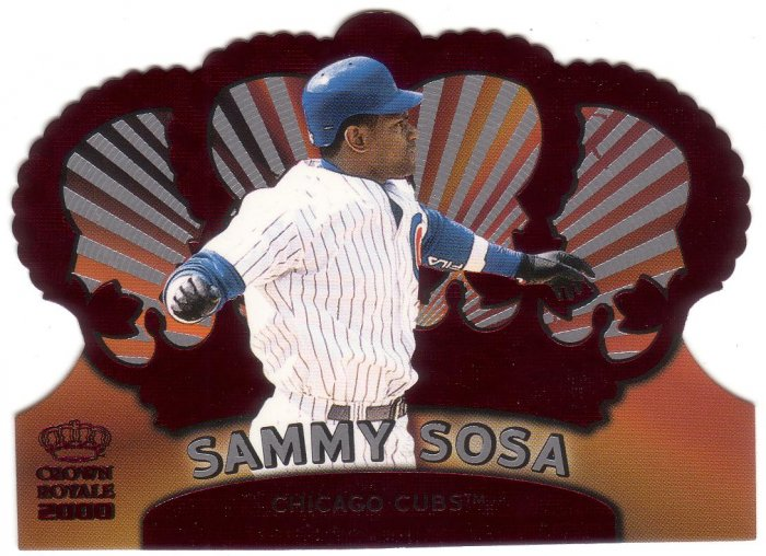 SAMMY SOSA 2000 CROWN ROYALE #27 RED DIE-CUT CHICAGO CUBS AllstarZsports.com