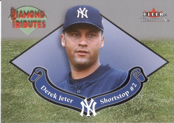 DEREK JETER 2002 FLEER TRADITIONS  DIAMOND TRIBUTES #3 NEW YORK YANKEES AllstarZsports.com