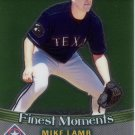 MIKE LAMB 2001 FINEST MOMENTS #FM3 TEXAS RANGERS AllstarZsports.com