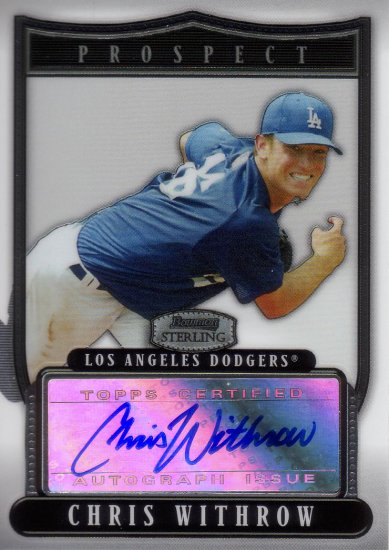 CHRIS WITHROW 2007 BOWMAN STERLING AUTO #BSP-CW ROOKIE LOS ANGELES DODGERS AllstarZsports.com