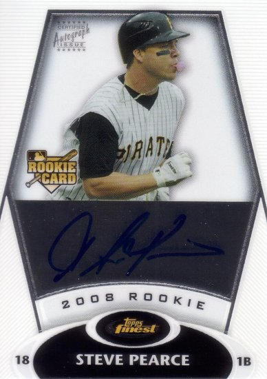 NICK PEARCE 2008 FINEST #155 ROOKIE AUTO PITTSBURGH PIRATES AllstarZsports.com