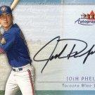 JOSH PHELPS 2001 FLEER AUTOGRAPHICS #78 AUTO TORONTO BLUE JAYS AllstarZsports.com
