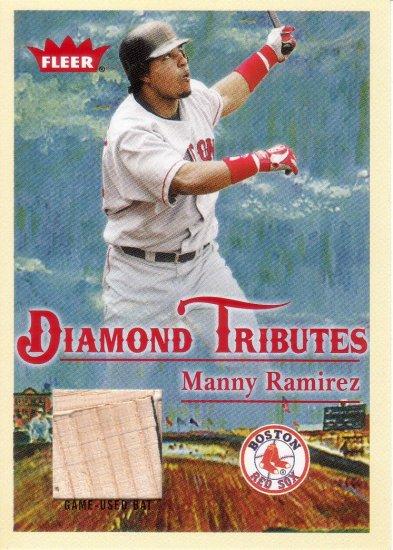 MANNY RAMIREZ 2005 FLEER TRADITIONS DIAMOND TRIBUTE BAT #DT-MR BOSTON RED SOX AllstarZsports.com