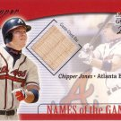 CHIPPER JONES 2001 GENUINE NAMES OF THE GAME BAT #14 SP# 20/50 HAND #'D BRAVES AllstarZsports.com