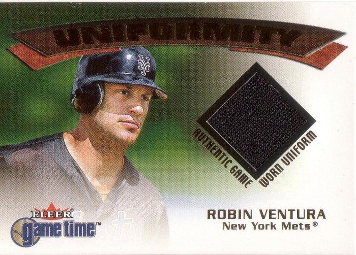 ROBIN VENTURA 2001 FLEER GAME TIME UNIFORMITY UNIFORM #20 NEW YORK METS AllstarZsports.com