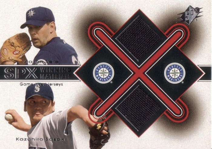 AARON SELE / SASAKI 2001 SPX WINNING MATERIALS UPDATE DUAL  #AS-KS MARINERS AllstarZsports.com