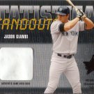 JASON GIAMBI 2002 ROOKIES & STARS STAT STANDOUTS GAME-USED BASE #SS-17 YANKEES AllstarZsports.com