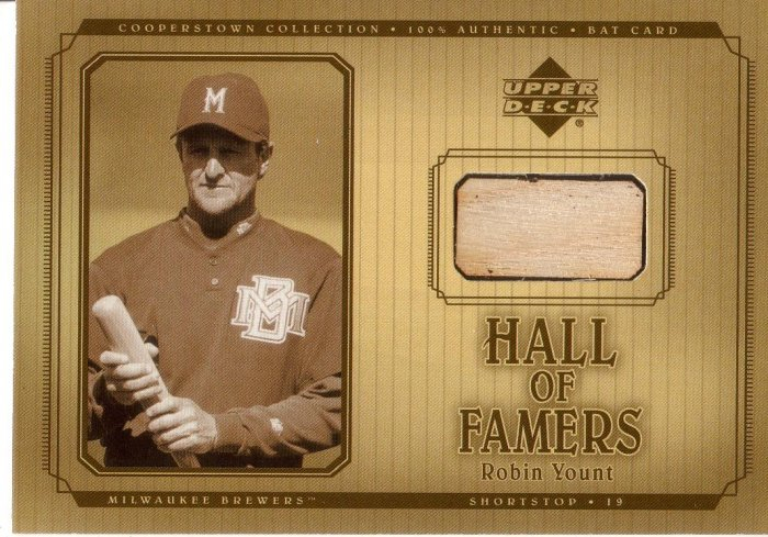 ROBIN YOUNT 2001 UD HALL OF FAMERS GAME BAT #B-RY MILWAUKEE BREWERS AllstarZsports.com