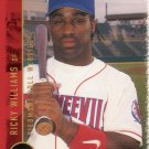 RICKY WILLIAMS 1999 JUST '99 #36 MINOR LEAGUE PIEDMONT BOLL WEEVILS AllstarZsports.com