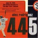 ALEX RODRIGUEZ 2007 TOPPS AROD ROAD TO 500 #ARHR445 NEW YORK YANKEES AllstarZsports.com