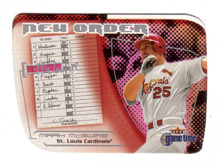 MARK McGWIRE 2001 FLEER GAME TIME NEW ORDER #4 OF 15 NO ST. LOUIS CARDINALS AllstarZsports.com