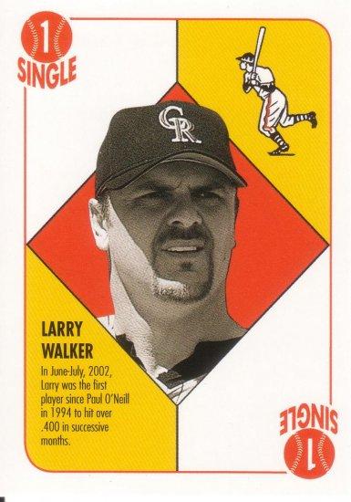 LARRY WALKER 2003 TOPPS BLUE BACKS #BB31 COLORADO ROCKIES AllstarZsports.com