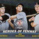 YASTRZEMSKI, WILLIAMS, GARCIAPARRA 2001 TOPPS CHROME HEROES OF FENWAY #TC13 AllstarZsports.com