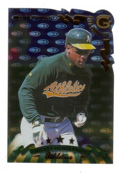 RICKEY HENDERSON 1998 DONRUSS GOLD PRESS PROOF #236 OAKLAND ATHLETICS AllstarZsports.com