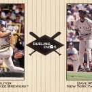 MOLITOR / WINFIELD 2002 GREATS OF THE GAME DUELING DUOS #23 BREWERS / YANKEES AllstarZsports.com