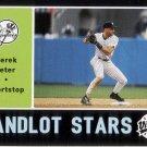 DEREK JETER 2002 UPPER DECK VINTAGE SANDLOT STARS #SS2 NEW YORK YANKEES AllstarZsports.com