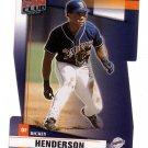 RICKEY HENDERSON 2002 DONRUSS FAN CLUB DIE CUT #68 SAN DIEGO PADRES AllstarZsports.com