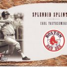 CARL YASTRZEMSKI 2001 FLEER RED SOX 100TH SPLENDID SPLINTERS #SS4 BOSTON RED SOX AllstarZsports.com
