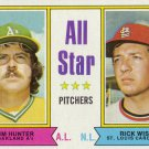 JIM HUNTER / RICK WISE 1974 TOPPS #339 OAKLAND ATHLETICS / ST. LOUIS CARDINALS AllstarZsports.com