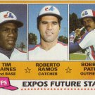 TIM RAINES / ROBERTO RAMOS / BOBBY PATE 1981 TOPPS #479 ROOKIE MONTREAL EXPOS www.AllstarZsports.com