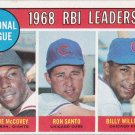 WILLIE McCOVEY / RON SANTO / BILLY WILLIAMS 1969 TOPPS #4 GIANTS / CUBS www.AllstarZsports.com