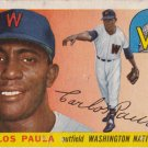 CARLOS PAULA 1955 TOPPS #97 ROOKIE WASHINGTON NATIONALS www.AllstarZsports.com