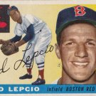 TED LEPCIO 1955 TOPPS #128 BOSTON RED SOX www.AllstarZsports.com