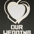 Pre-Cut Double Heart Our Wedding Photo Mat