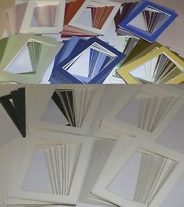 Lot #5 Photo Picture Mat Mount Matting 250 Pack Single Assorted Colors