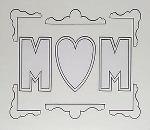 Double White Black-core Mom Photo Mat Mount