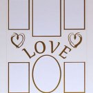 "Pre-Cut Double ""Love Brushed Hearts"" Photo Mat 16 x 20"