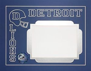 Detroit Lions 11 x 14 Pre-Cut For 5 x 7 Photo Mat