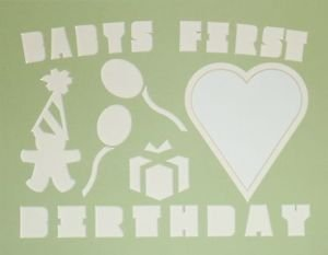 Custom Color Double Babys 1st Birthday Picture Photo Mat Matting Mount