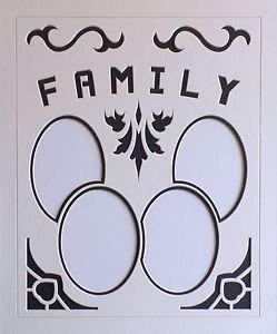 Custom Double Family Picture Photo Oval Letter Mat Mount 20 x 24