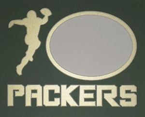"""Custom Double """"Packers Football Player"""" 8 x 10"""