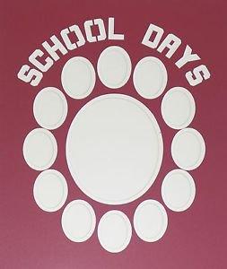 """Pre-Cut Double """"School Days"""" Graduation Photo Matte Lettering 16 x 20"""