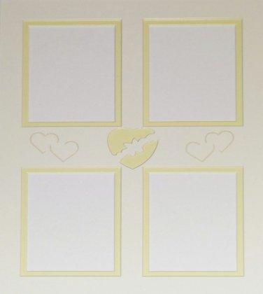 "Custom Double 11 x 14 ""Hearts"" Collage"