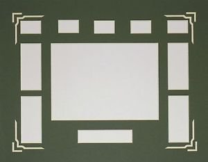 Custom Color 35 MM Film Cell Mat Mount Single Free 35 MM Clips 11 x 14 #3