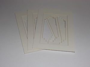 10 Pack  5 x 7 Photo Mats White Stepped Double #1
