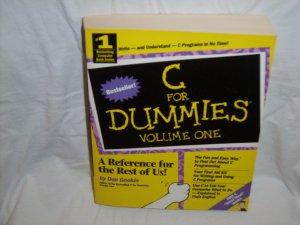 C For Dummies Volume One by Dan Gookin (paperback 1994)