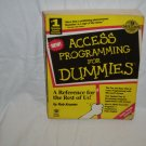 Access Programming for Dummies by Rob Krumm (Softcover 1994)
