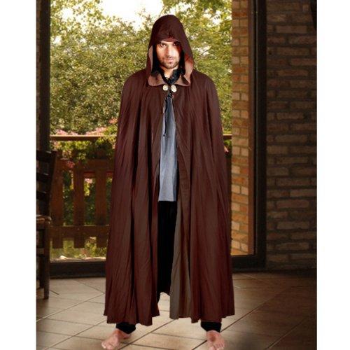 Reversible Medieval Cloak - Chocolate/Light Brown