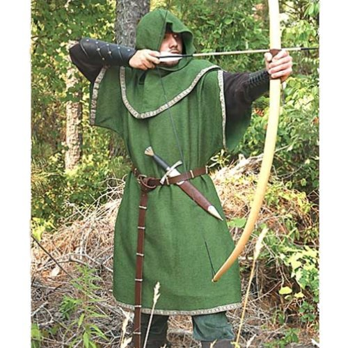 Huntingdon Green Over Tunic with Hood � S/M