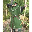 Huntingdon Green Over Tunic with Hood – S/M