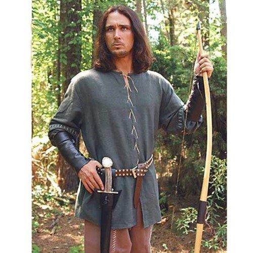 Green Cotton Medieval Outlaw Shirt - L/XL